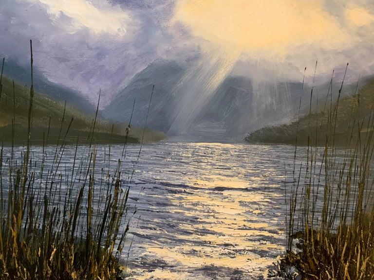 Buttermere Lake District Landscape Oil Painting by British En Plein Air Artist 3