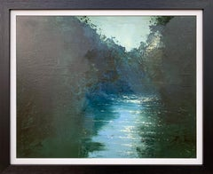 Impressionistic English River Landscape Original Oil Painting by British Artist
