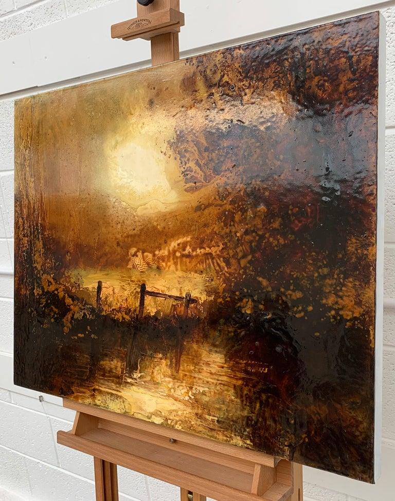 Impressionistic English River Landscape Original Oil Painting En Plein Air Art For Sale 2