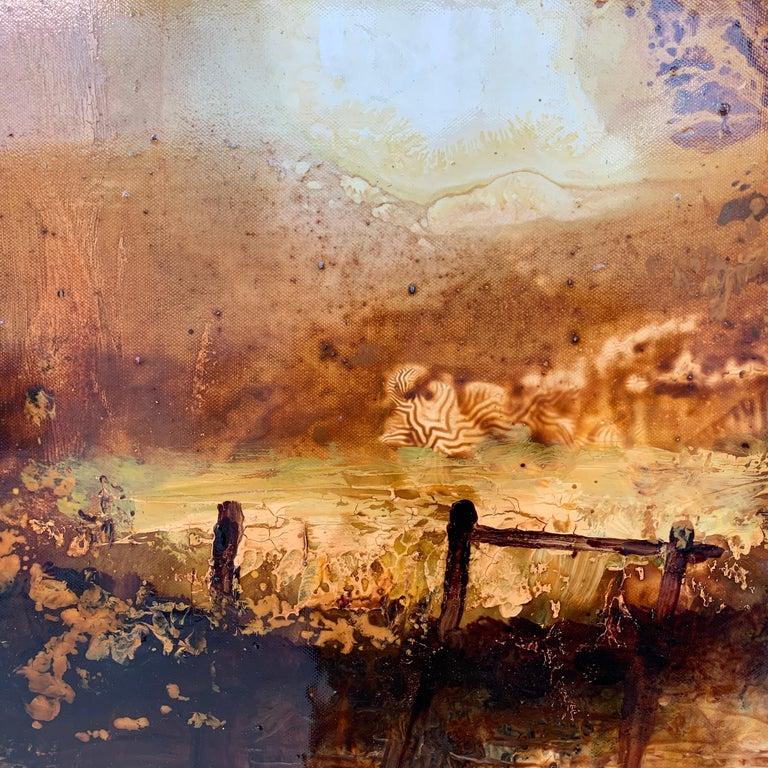 Impressionistic English River Landscape Original Oil Painting En Plein Air Art For Sale 3