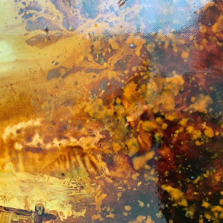 Impressionistic English River Landscape Original Oil Painting En Plein Air Art For Sale 4