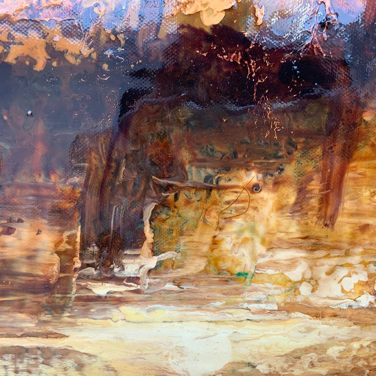 Impressionistic English River Landscape Original Oil Painting En Plein Air Art For Sale 5