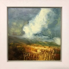 Impasto Oil Painting of English Moorland Storm Cloud by British Landscape Artist