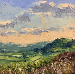 Northern Moorland Impasto Landscape Oil Painting by British En Plein Air Artist