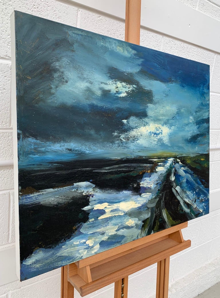 Original Oil painting of the English Moorland in the Peak District by British Landscape Artist Colin Halliday. Colin Halliday is a highly respected contemporary landscape painter, influenced by the Romantic traditions of Turner & Constable. He has