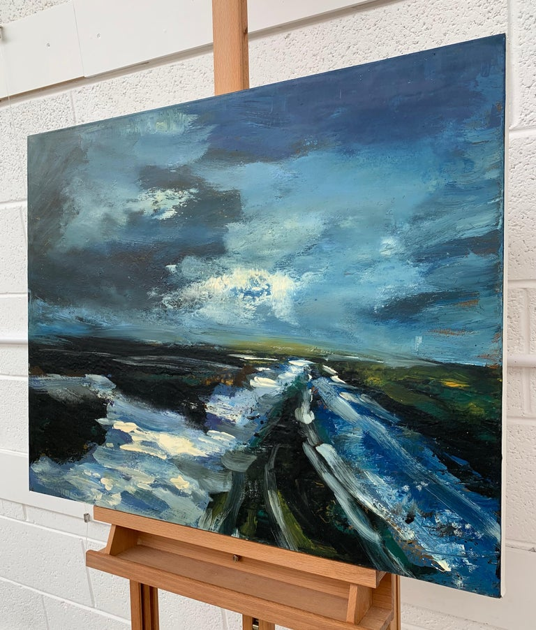 Original Landscape Oil Painting of the Peak District England by British Artist For Sale 1