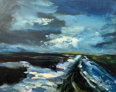 Original Landscape Oil Painting of the Peak District England by British Artist