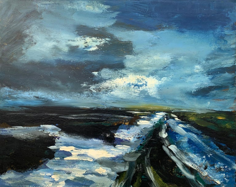 Colin Halliday Landscape Painting - Original Landscape Oil Painting of the Peak District England by British Artist