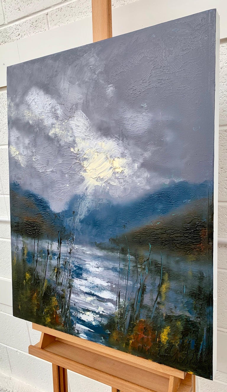 Passing Storm Buttermere Lake District Landscape Oil Painting by British Artist For Sale 1