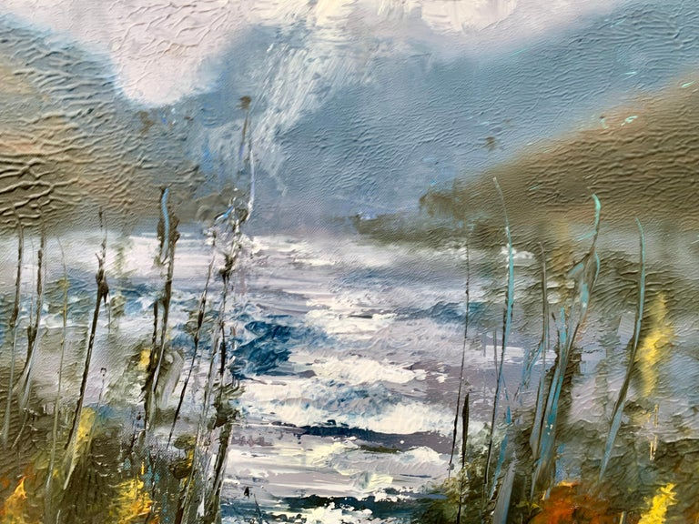 Passing Storm Buttermere Lake District Landscape Oil Painting by British Artist For Sale 2