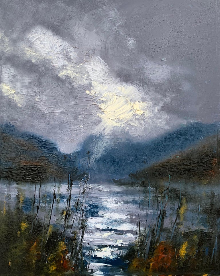 Colin Halliday Landscape Painting - Passing Storm Buttermere Lake District Landscape Oil Painting by British Artist