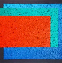 Modus 3 - Colourful Geometric Abstraction: Oil on Canvas