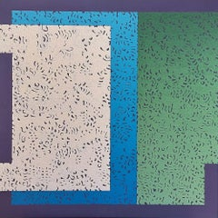 Modus 5 - Colourful Geometric Abstraction: Oil on Canvas