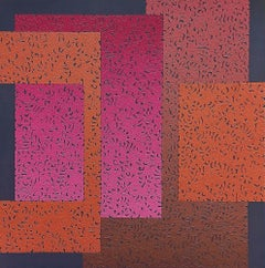 Modus 6 - Colourful Geometric Abstraction: Oil on Canvas