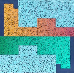 Modus 7 - Colourful Geometric Abstraction: Oil on Canvas