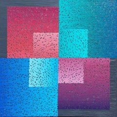 Modus 8 - Colourful Geometric Abstraction: Oil on Canvas