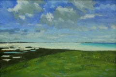 Colin Moore, Machair II, Original Landscape Painting, Affordable Art