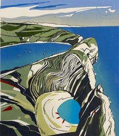 Colin Moore Stair, Hole, Lulworth, Dorset Art, Landscape Art, Affordable Art