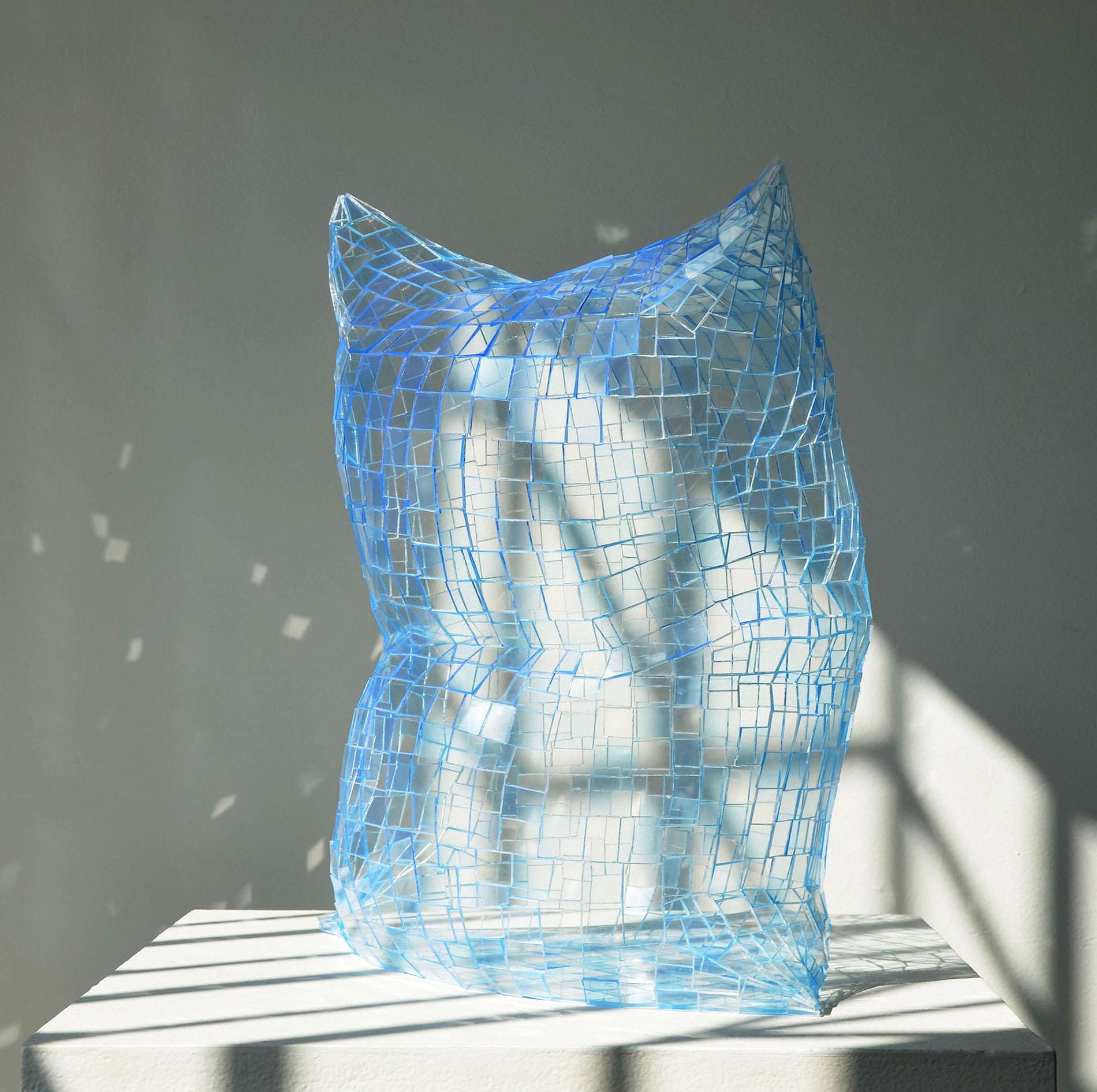 Ghost Pillow (Ice Blue), Colin Roberts Plexiglass Sculpture Transparent