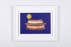 """Hot -Dog with Mustard"" , mix media work, contemporary, pop art."