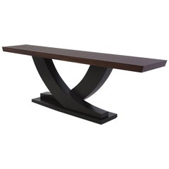 Colisa Console Table in Solid Mahogany Wood