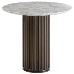 Colisee Bronze Calacatta Marble Side Table