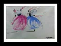 Bolero Mallorquin original expressionist watercolor painting