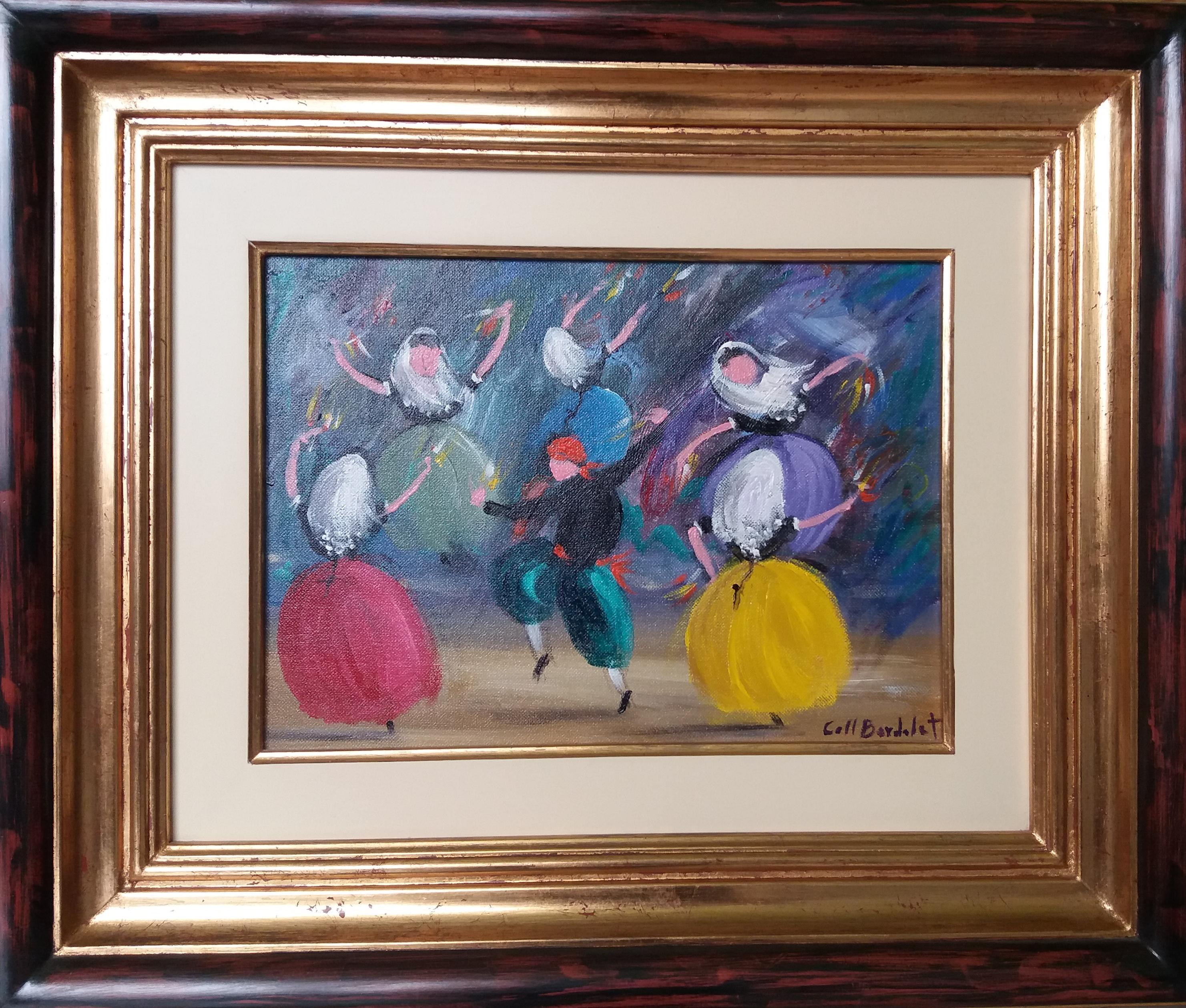 BOLERO. original expressionist acrylic painting