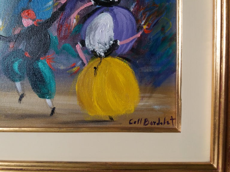 BOLERO. original expressionist acrylic painting - Expressionist Painting by Coll Bardolet