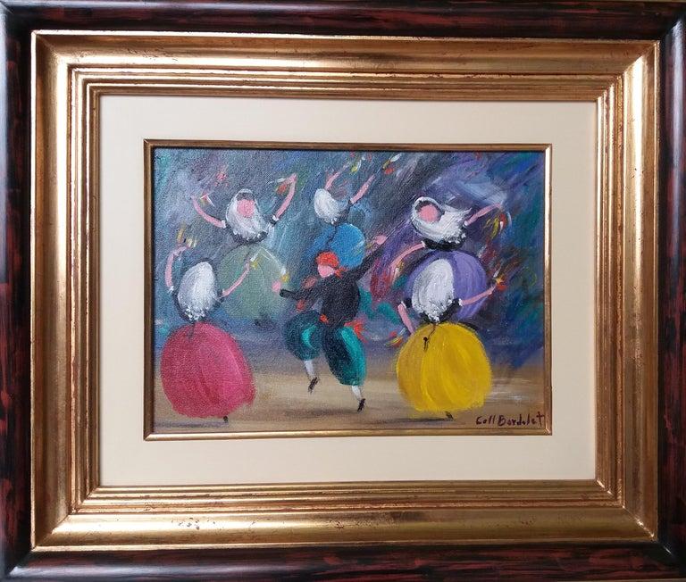 Coll Bardolet Figurative Painting -  BOLERO. original expressionist acrylic painting