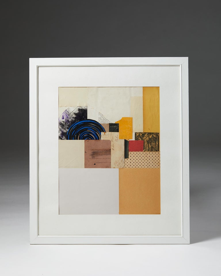 Collage.  Measures: H 70 cm/ 2' 4