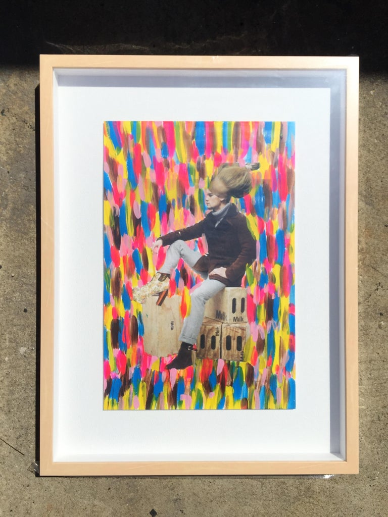 Collage, Painting Multicolor Set of 9, 21st Century by Mattia Biagi In New Condition For Sale In Culver City, CA
