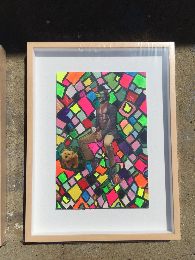 Collage, Painting Multicolor Set of 9, 21st Century by Mattia Biagi For Sale 2