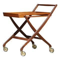 Collapsable Teak Bar Cart