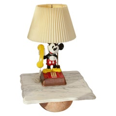 Collectable 1970s Vintage Walt Disney Mickey Mouse Phone Lamp