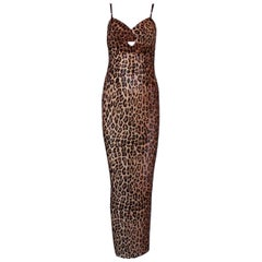 Collectable Dolce & Gabbana Vintage Cheetah Leopard Print Maxi Dress Gown