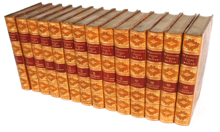 Paper Collected Writings of Thomas De Quincey in 14 Volumes, 1896 For Sale