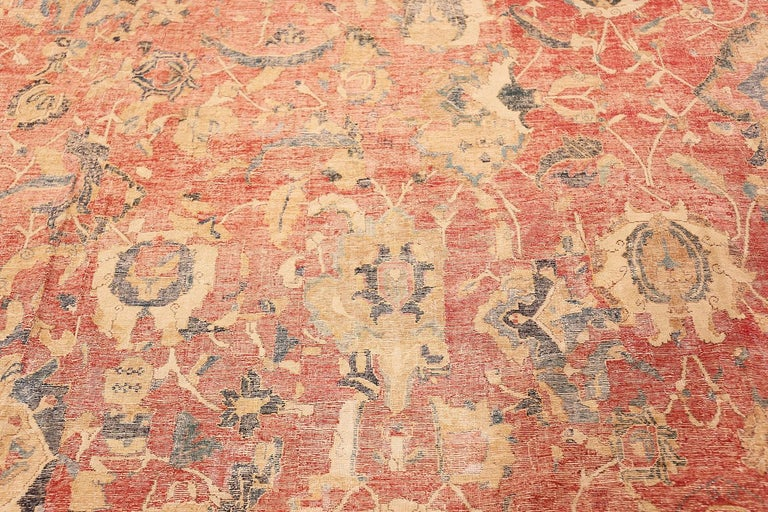 Rare and Collectible Oversized Persian Antique 17th Century Esfahan rug, Country of Origin / Rug Type: Persian Rugs, Circa Date: 17th Century. Size: 11 ft 4 in x 30 ft (3.45 m x 9.14 m)