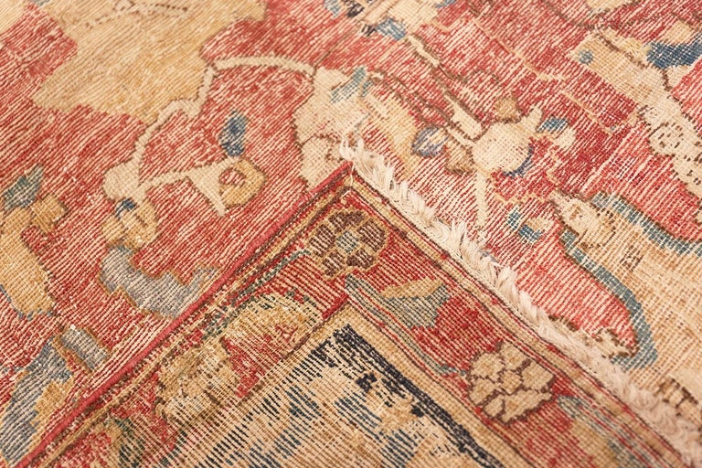 Collectible 17th Century Persian Esfahan Rug. Size: 11 ft 4 in x 30 ft In Good Condition For Sale In New York, NY