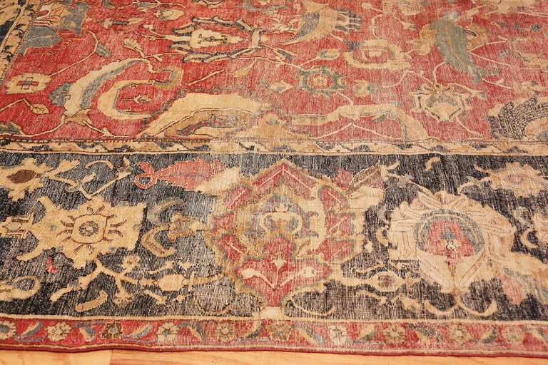 18th Century and Earlier Collectible 17th Century Persian Esfahan Rug. Size: 11 ft 4 in x 30 ft For Sale