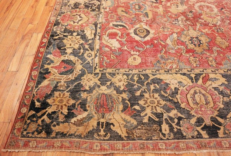 Wool Collectible 17th Century Persian Esfahan Rug. Size: 11 ft 4 in x 30 ft For Sale