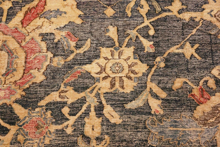 Collectible 17th Century Persian Esfahan Rug. Size: 11 ft 4 in x 30 ft For Sale 1