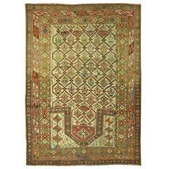 Collectible Antique Caucasian Shirvan Prayer Rug