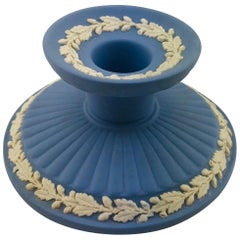 Collectible English Wedgwood Jasperware Pale Blue Candle Stand or Stick