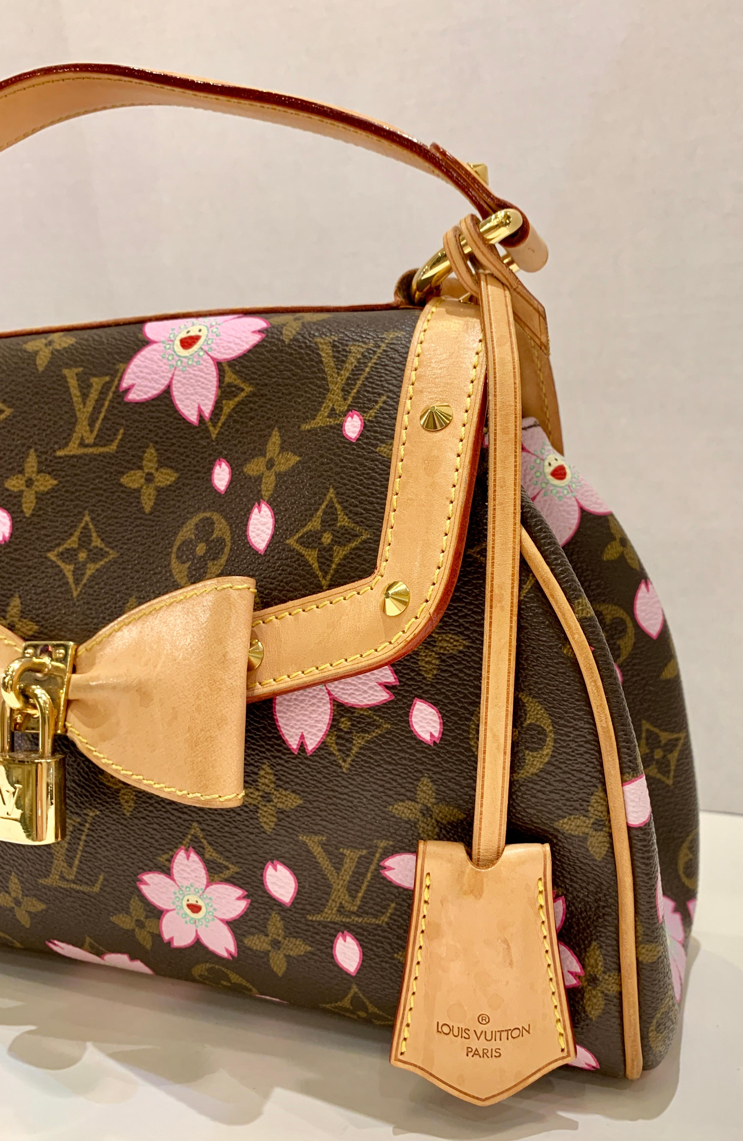 a7d29d6a74 Louis Vuitton Takashi Murakami Limited Edition Retro Cherry Blossom Purse  For Sale at 1stdibs