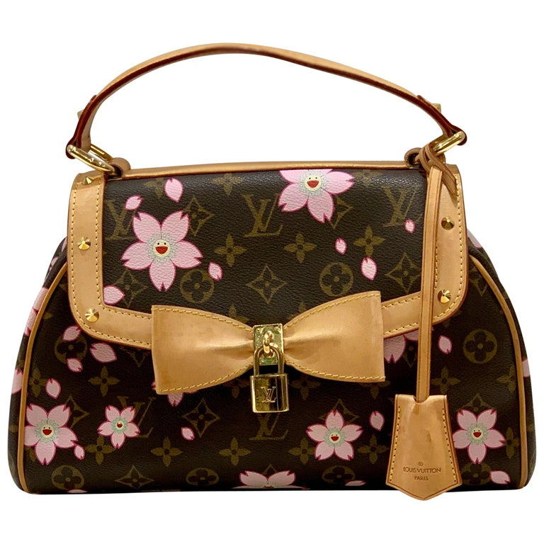 3a00cac42f Louis Vuitton Takashi Murakami Limited Edition Retro Cherry Blossom Purse  For Sale