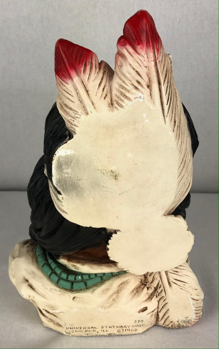 20th Century Collectible Native American Indian Chief Statue For Sale