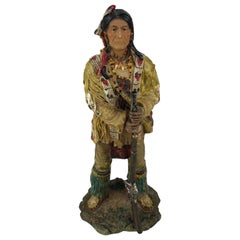 Collectible Native American Indian Hunter with Gun