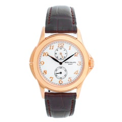 Collectible Patek Philippe Travel Time Men's 18k Rose Gold Watch 5134 R or 5134R