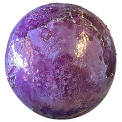 Collectible Purple Decorative Clay Sphere
